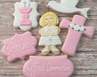 First Communion Cookie Set (1 Dozen)
