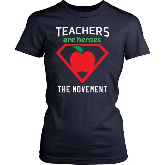 Teachers Are Heroes Women's Shirt Best Gift For Teacher Gift For Her