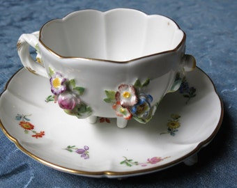 18th Century Meissen Tea Cup - Scarcest Meissen Cup and Saucer