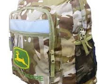 Brown Camo John Deere Backpack