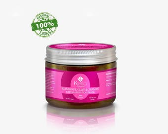 100% Pure and Naturel Moroccan Rhassoul Clay with Jasmin - Hair, Face, Body Mask