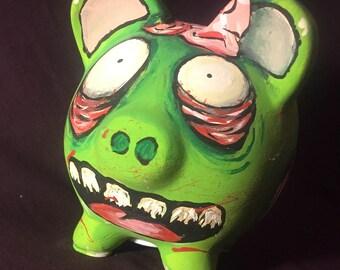 Zombie piggy bank!