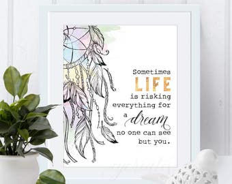 life and dream digital wall art