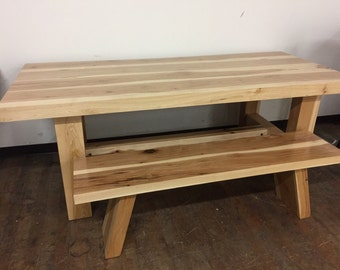 Hickory Farm Dining Table and Bench (can be sold separately)