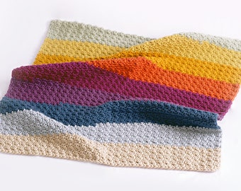 Rainbow-Like Puffy Baby Afghan