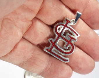 St. louis Cardinals logo pendant