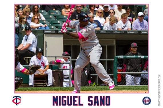 Miguel Sano Minnesota Twins Canvas Wrap