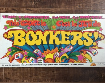 Vintage Bonkers Board Game 1978 Rare Great Condition