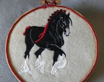 Shire Draft Horse Ornament