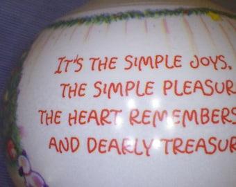 """Hallmark Keepsake Ornament """"Simple Pleasures"""""""