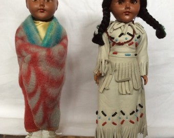 Pair of Native American Dolls