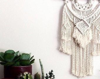 """Macrame Pattern (Advanced Wall Hanging Pattern) """"Jewel""""  Macrame Wall Hanging"""