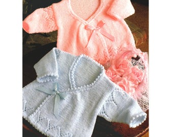 Vintage Knitting Pattern Wrapover Coat
