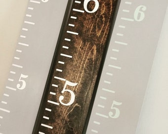 Wooden Ruler Growth Chart, Hand Painted