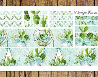 CACTUS SUCCULENTS Bottom Washi and Washi Strips Planner Stickers Washi Planner Stickers Washi Stickers Cactus Stickers Cactus Planner W104