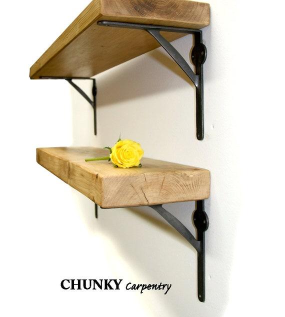 Rustic wood Medium 6cm thickness Shelf Shelves Industrial