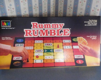 Vintage Rummy Rumble Board Game by International Games from 1985