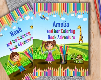 Personalised Coloring Book for Children - A Fun Coloring Book Adventure to Help Learn the Alphabet and Animals - A Great Gift for Kids