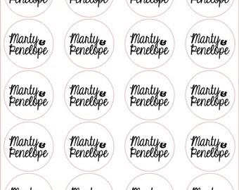 Custom logo stickers, black and white logo stickers, kraft paper stickers, hand drawn stickers