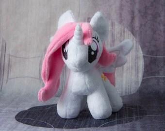 Plushie Princess Celestia filly Tia Custom Plush handmade my little pony friendship is magic alicorn toy