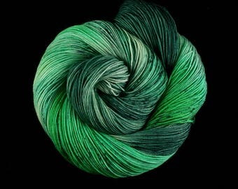 Hand Dyed Yarn - Hand Dyed Sock Yarn - 100% Superwash Merino Wool in 'Stay out of the forest'