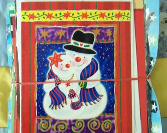Old Christmas Cards For Craft/Card Making Set#1
