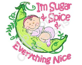 Baby Girl Machine Embroidery Design