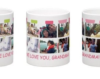 Custom Coffee Mug with 6 pictures and customized text