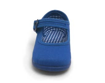 Chambray Mary Jane Canvas, blue canvas, canvas shoes