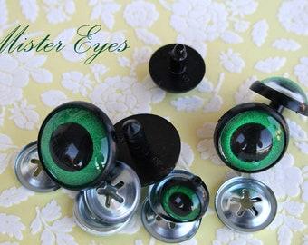 Safety eyes Green 22 mm for   plush animal amigurumi bear cat dog plastic eyes