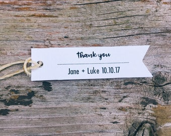 25 Custom Wedding favor tag • Bridal Shower favor tag • Thank you tag