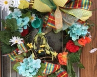 Spring Grapevine Wreath, Summer Grapevine Wreath, Floral Grapevine Wreath, Spring Wreath, Grapevine Wreath, Front Door Wreath, Spring