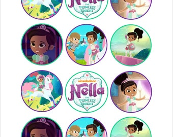 Edible Nella the Princess Knight Cupcake Cookie Toppers
