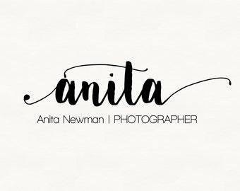 Any color * Beautiful elegant hand-written photography Logo / Watermark, Premade Logo Design, Signature