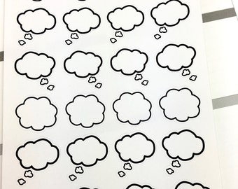 Speech Bubble Planner Stickers 0228