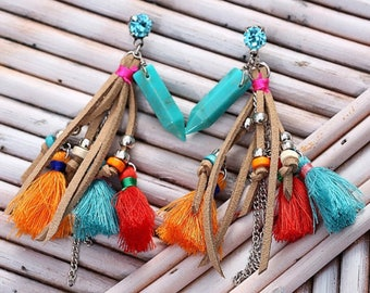 Vividly and Colorful Earrings, Handmade Lovely Earrings, Em's Vividly Earrings
