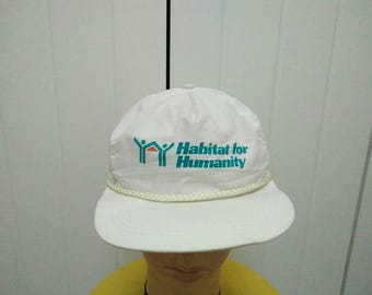 Rare Vintage HABITAT FOR HUMANITY Spell Out Cap Hat Free size fit all
