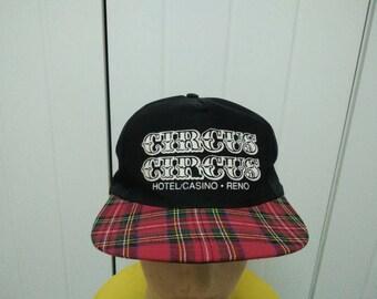 Rare Vintage CIRCUS CIRCUS Hotel Casino Reno Cap Hat Free size fit all