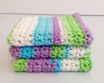 Handmade Crochet Easter Wash, Handmade Crochet Dish Cloths