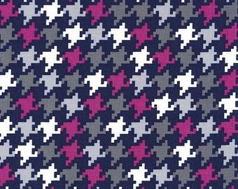 Passion Everyday Houndstooth  - HALF YARD - Michael Miller - Cotton Fabric - Quilting Fabric  Midnite Gems