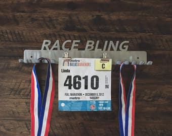 Running Bib and Medal Holder, Running Medal Holder, Race Bib Holder, Medal and Bib Hanger, Medal Hanger Display, Race bling