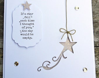 If A Star Fell Greeting Card