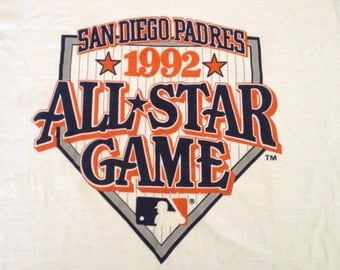 Vintage 90s San Diego PADRES All Star Game MLB t-shirt size XL