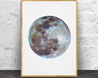 Moon Wall Art, Moon Poster, Moon Print, Moon Wall Print, Moon Photo, Moon Printable, Planet Print, Space Wall Art, Moon Art, Moon Decor