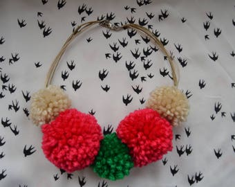 Mexican Collection Pom Pom necklace