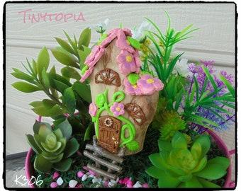 Flower Fairy House  Fairy Garden OOAK