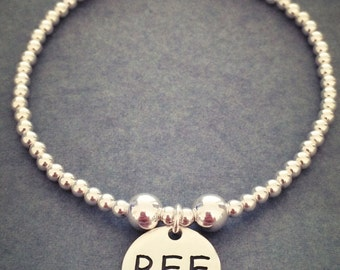Sterling Silver BFF Best Friends Forever Charm Bracelet