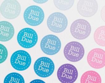 BILL DUE CIRCLE Sticker Sheets