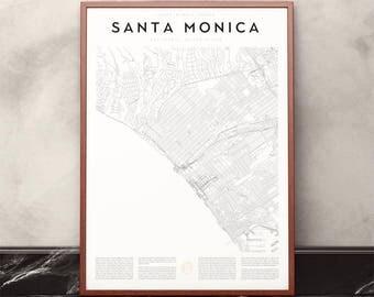 Santa Monica Map Print