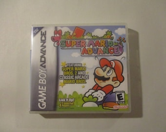 Super Mario Advance Custom GBA/ Game Boy Advance Case Only (***NO GAME***)